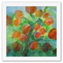 Druck, Malerei, Natur, Blumen