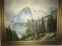 Malerei, Landschaft, Malen, Pinnwand