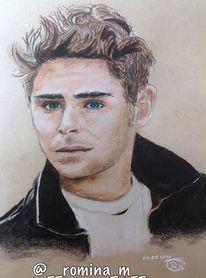 Portrait, Schauspieler, Sänger, Zeichnung
