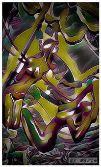 Digital, Malerei, Farben, Digitale kunst
