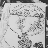 Fantasie, Figur, Malerei, Zeichnungen