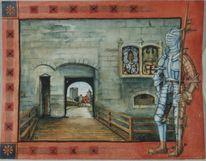 Rüstung, Mythologie, Geschichte, Aquarellmalerei
