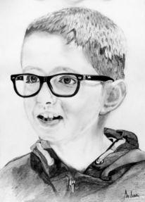 Portrait, Schwarz, Weiß, Zeichnungen