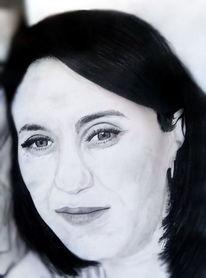 Modern, Portrait, Schwarz, Weiß