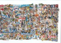 Collage, Musik, Bunt, Kino