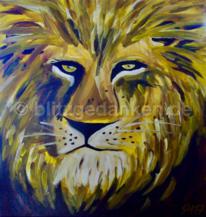 Majestätisch, Acrylmalerei, Augen, König