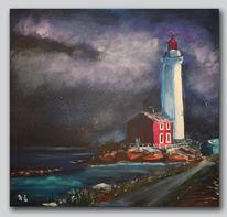 Leuchtturm, Landschaft, Abend, Kanada