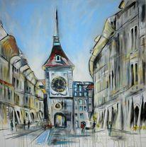 Acrylmalerei, Stadt, Bern, Farben
