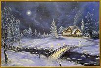 Nacht, Winter, Mond, Weihnachten