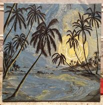 Bali, Sonne, Fischerboot, Meer