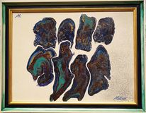 Türkis, Lila, Blau, Gold