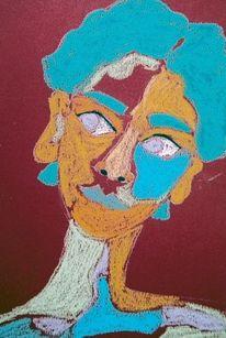 Expressionismus, Abstrakt, Mädchen, Gelb