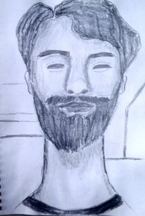 Bleistiftzeichnung, Mann, Skizze, Zeichnungen