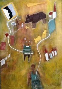 Deuten, Traum, Fliegen, Malerei