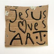 Liebe, Jesus, Mischtechnik,