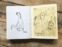 Zeichnung, Monika, Menschen, Zeichnungen