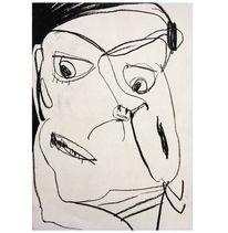 Art löchle, Portrait, Selbstportrait, Zeichnungen