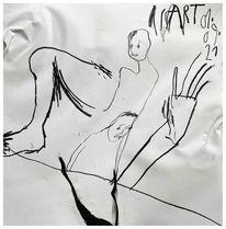 Zeichnung, Skizze, Menschen, Akt