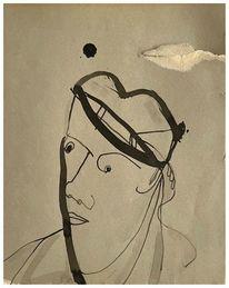 Tuschmalerei, Zeichnung, Portrait, Zeichnungen