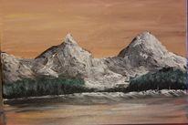 Landschaft, Berge, Schnee, Sonne
