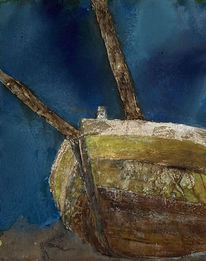 Boot, Verwittert, Struktur, Landschaft