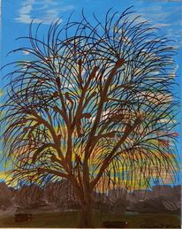 Braun, Landschaft, Äste, Baum