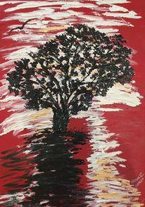 Weiß, Knallig, Weide, Rot schwarz