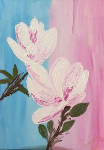 Abstrakt, Natur, Weiß, Rosa