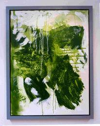 Abstrakt, Expressionismus, Malerei, Grün