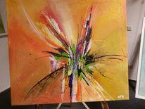 Abstrakt, Biene, Acrylmalerei, Malerei