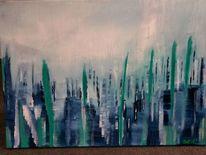 Fantasie, Abstrakt, Spiegelung, Malerei