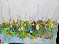 Fantasie, Abstrakt, Umschlungene wege, Malerei