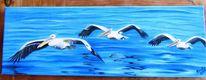 Wasser, Meer, Vogel, Malerei