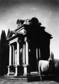 Schwarz, Modern, Modern art, Kohlezeichnung