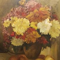 Malerei, Blumen, Ölmalerei,