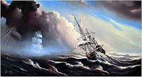 Malerei, Schiff, Wind,