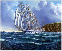 Segelschiff, Venezuela, Malerei,