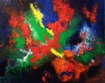 Abstrakt, Holz, Spachtel, Malerei