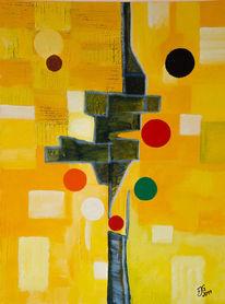 Farben, Gelb, Abstrakt, Malerei