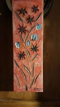 Farben, Modern art, Blumen, Mischtechnik