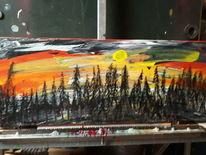 Licht, Landschaft, Modern art, Malerei