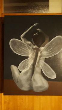Weiß, Modern art, Schwarz, Menschen