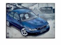 Auto, Malerei, Acrylmalerei,