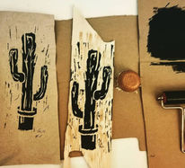 Holzdruck, Naturdruck, Linoldruck, Druck