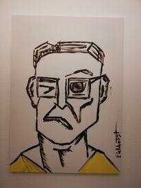 Portrait, Kopf, Acrylmalerei, Malerei
