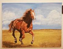 Tiermalerei, Pferde, Tiere, Acrylmalerei