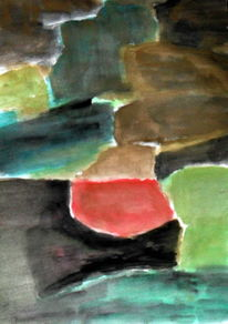 Schwarz, Rot, Grün, Malerei