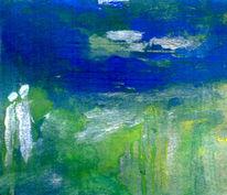 Grün, Rand, Blau, Malerei