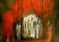Auszug, Rot, Weiß, Malerei