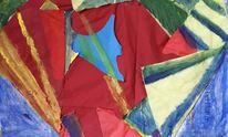Farben, Collage, Zeitung, Mischtechnik
